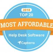 2018 Capterra Most Affordable IT Hepl Desk Software Badge