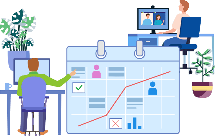 Employees are using a shared calendar remotely