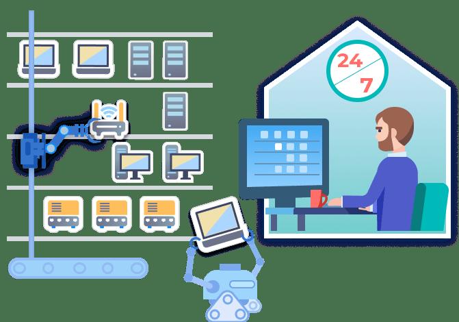 Employee reserving equipment online