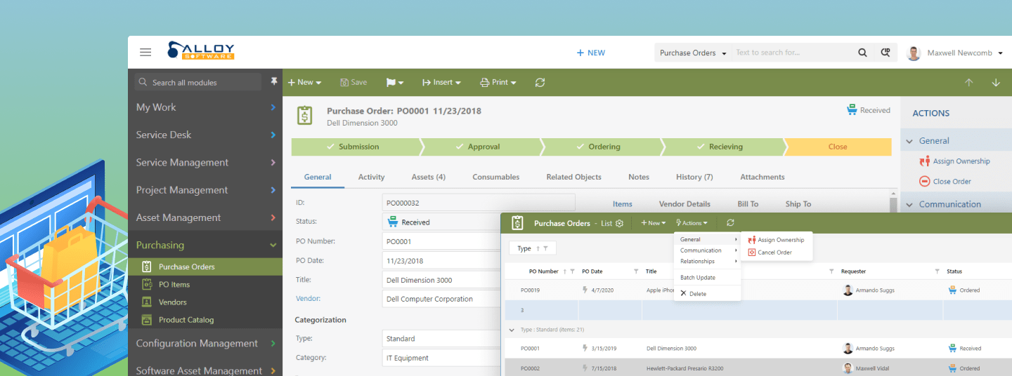Purchase Order Management Screenshot