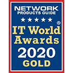 Alloy Software gold winner in ITSM category badge