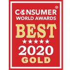 Consumer World Award gold Badge for invormation technology