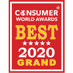 Consumer World Award grand Badge for invormation technology