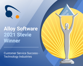 Alloy Software 2021 Stevie Award for Outstanding Customer Success