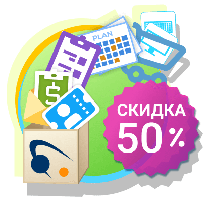 badge with 50%